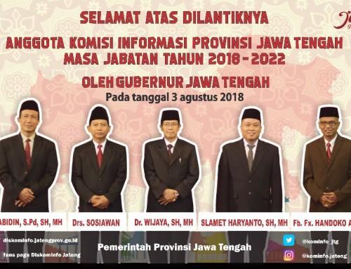 Anggota Komisi Informasi Provinsi Jawa Tengah Masa Jabatan Tahun 2018-2022